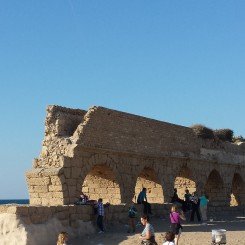 Aqua Duct at Caesarea brought water from Mt. Carmel