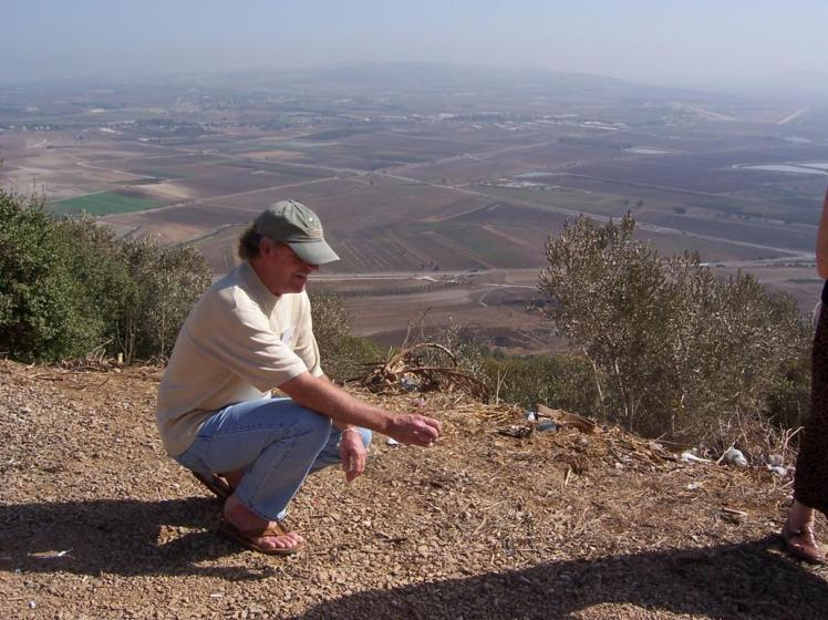 Rich on Mt. Carmel overlooking Valley of Armageddon