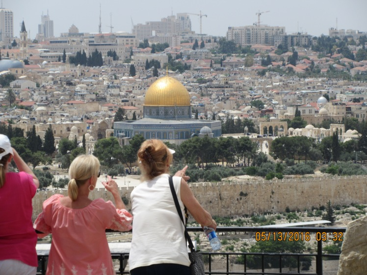 Viewing The Temple Mount From the Mount of Olives