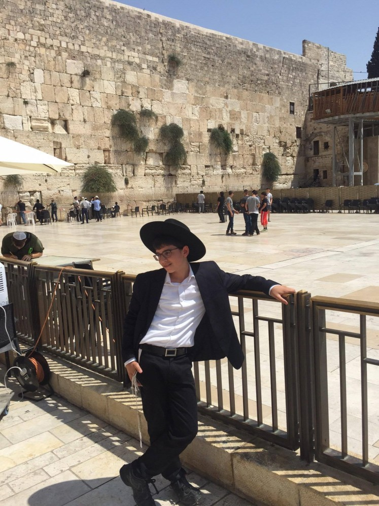 Young Orthodox at the Kotel (Western Wall)
