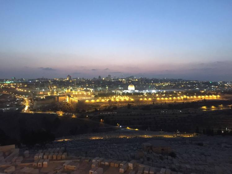 Jerusalem Temple Mount at Night