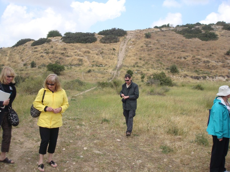 Tour Group at Valley of Elah