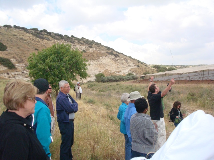 Ezer Enacting the Role of Goliath at Valley of Elah