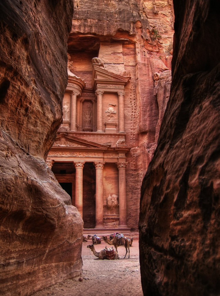 View of the Treasury from the Siq