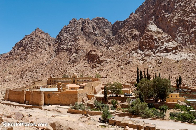 St Catherines Monastery at Mount Sinai (Photo: Courtesy of the Pictorial Library of Bible Lands)