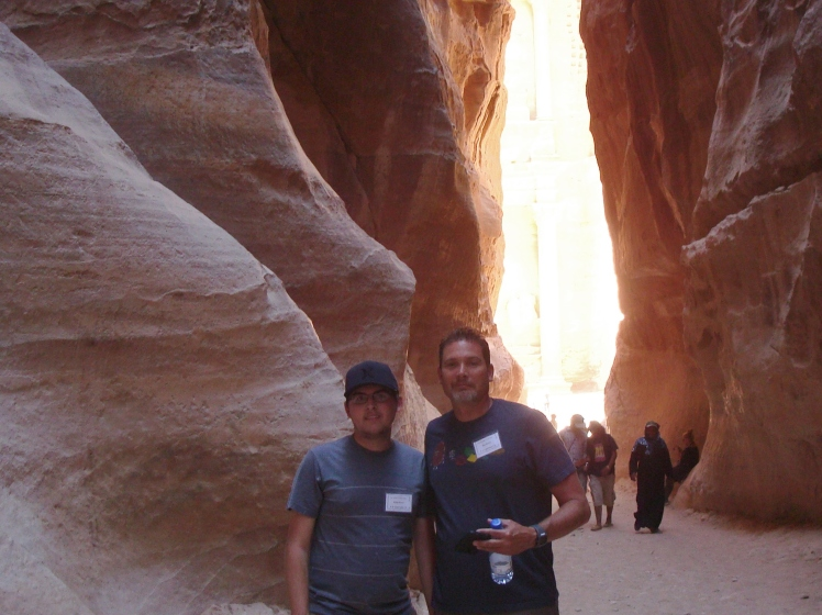 Bob and Dylan at the End of the Siq
