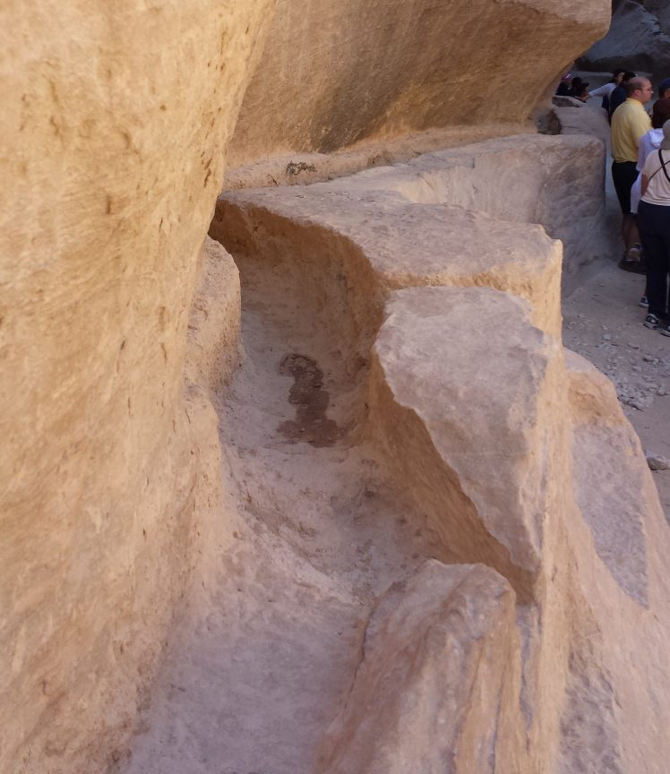 Petra Water Channel in Siq