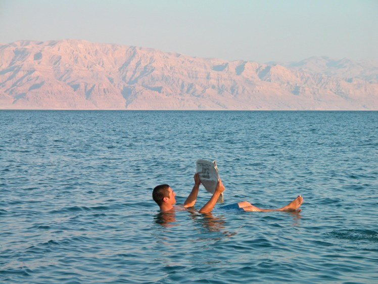 Floating In The Dead Sea (Courtesy of Bible Lands Pictorial Library)