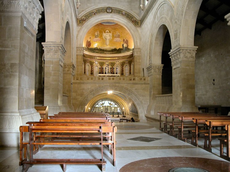 Mount Tabor Basilica of Transfiguration interior, tb032904197