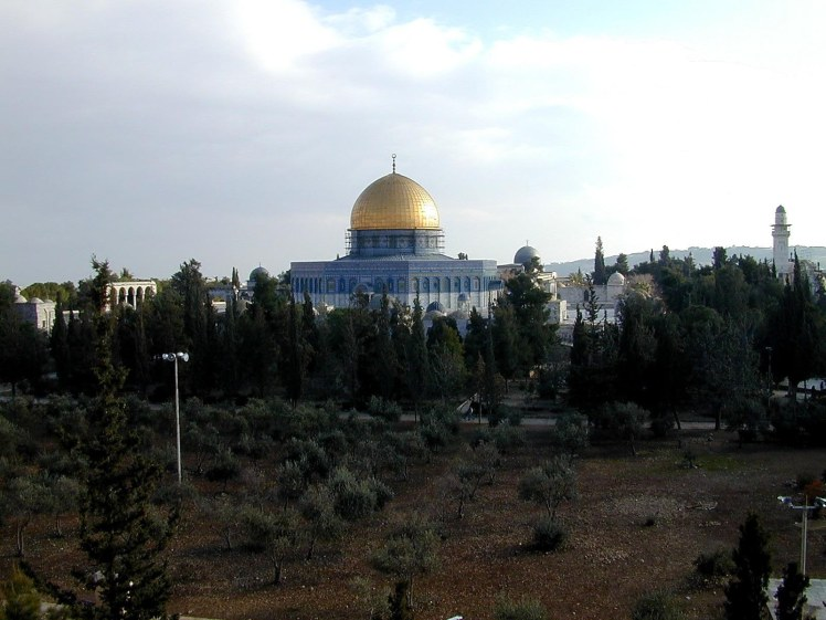 Temple Mount and Dome of the Rock from north, tb012301203