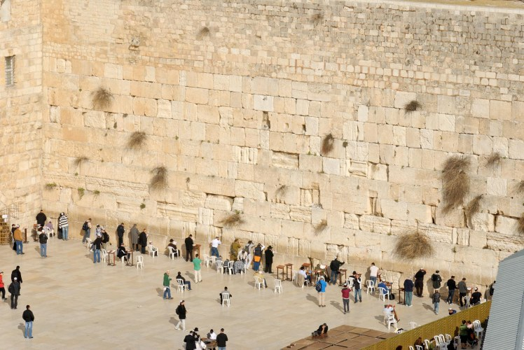 Western Wall from southwest, tb010312495