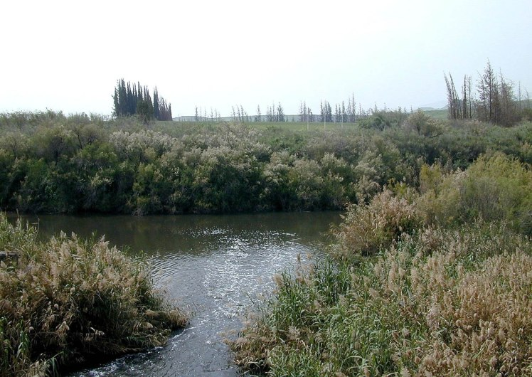 Jordan River and Yarmuk River meeting place, tb040300204