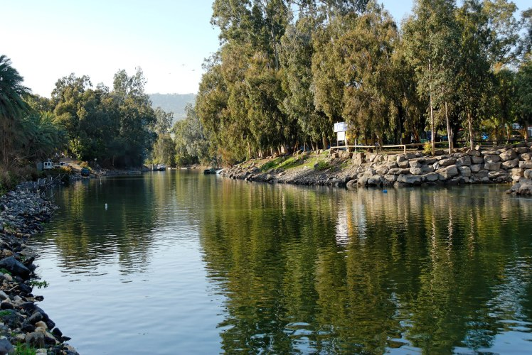 Jordan River exiting from Sea of Galilee, tb022107167