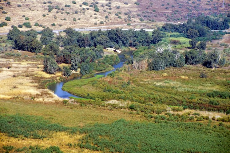Jordan River north of Sea of Galilee aerial from south, tbs115220011