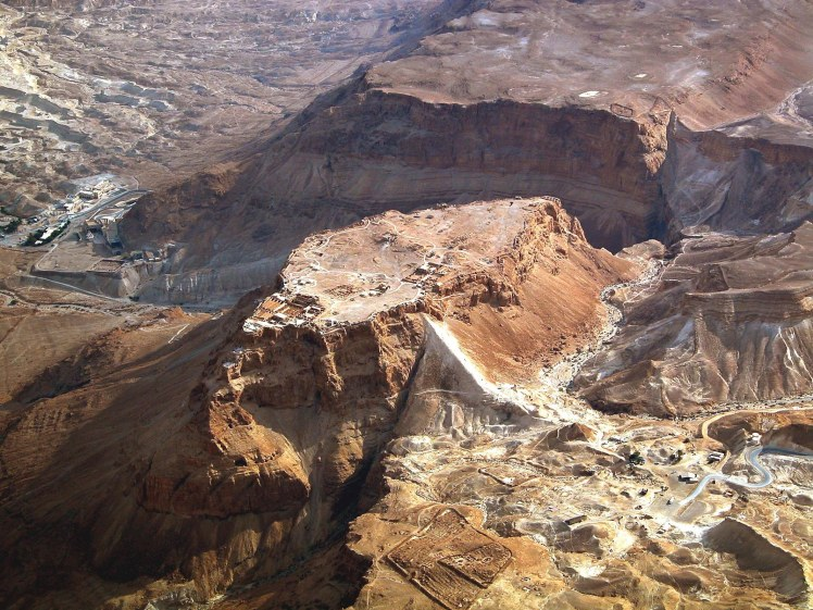 Masada aerial from northwest, tb010703306