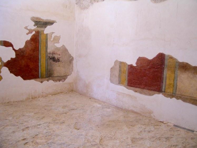 Masada bathhouse tepidarium frescoes, tb052104814