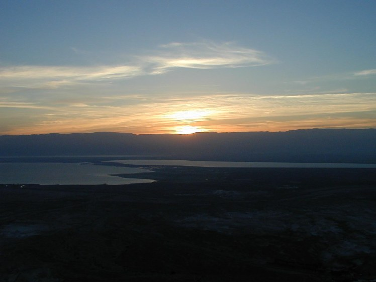 Masada sunrise over Dead Sea, dg030401281