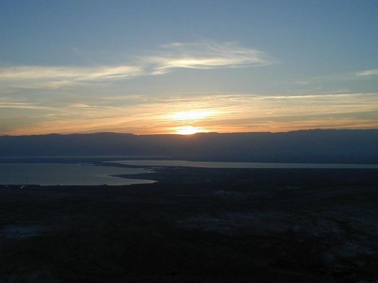 Masada sunrise over Dead Sea, dg030401281