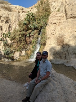 Karen and Doug Payne at David Falls, En Gedi