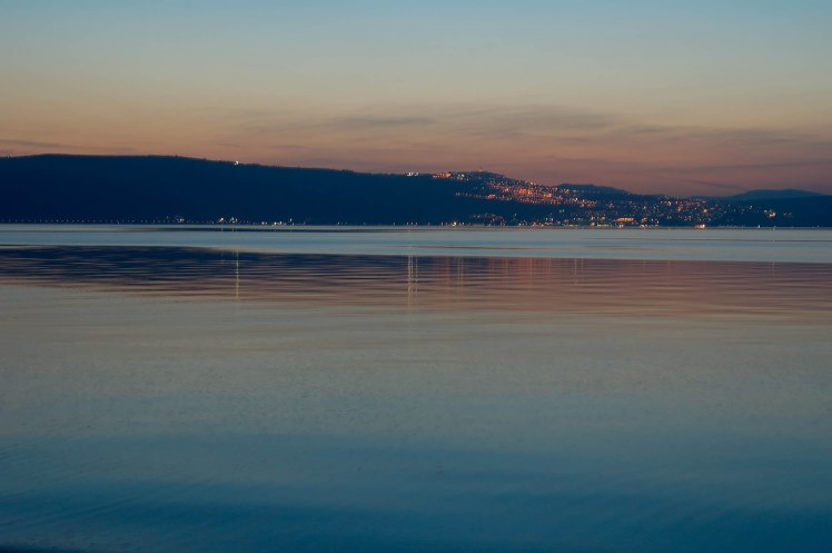 Sea of Galilee and Tiberias at dusk, tb032805897