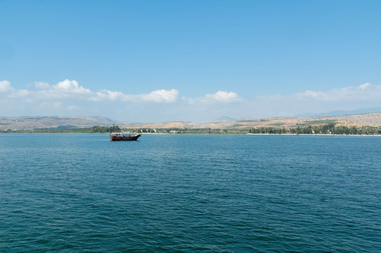 Sea of Galilee with boat, tb100805618